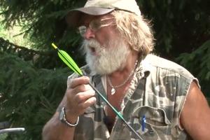 Fletching an Arrow Using a Jig