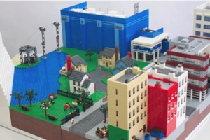 LEGO city built in 90 seconds
