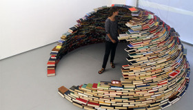 Mini Room Made of Books