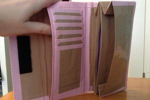 Duct tape women's wallet