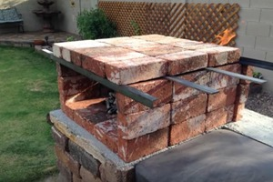 DIY Portable Brick Pizza Oven
