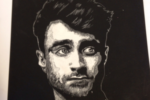 Daniel Radcliffe scratch art