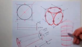 Sketching tutorial How to draw Ellipses and Cylinders