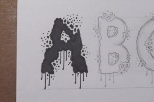 Designing a Horror Font