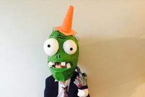 Plants vs Zombies Homemade Conehead Zombie #costume2015