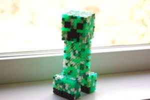 How to make: MineCraft Creeper in Perler Beads