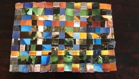 Paper-craft woven mat