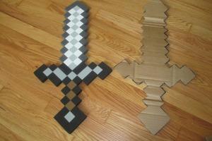 Cardboard Minecraft Sword
