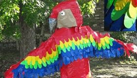 Duct tape bird costume
