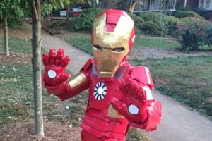 Iron Man duct tape costume