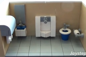 How To Build a LEGO Public Bathroom