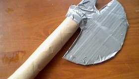Cardboard Duct Tape Battle Axe