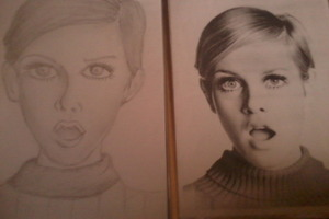 Twiggy Fan Drawing