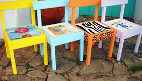 Beautifully Painted Chairs