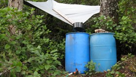 Tarp Rainwater Collector