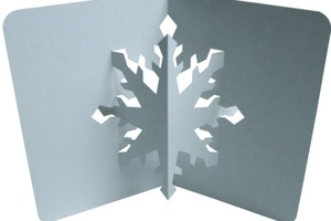 How To Make a Snowflake Popup Card