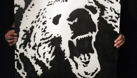 Grizzly Bear Stencil