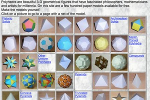 paper models of polyhedra Polyhedral maps in paper (if you have no experience building paper or card models, please read the assembly tips) the polyhedra.