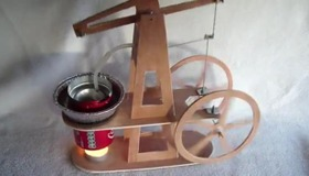 Walking Beam Stirling Engine