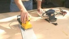 Use A Portable Electric Sander