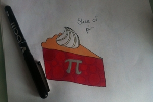 Math joke: slice of pi