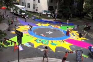 Intersection painting time-lapse