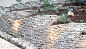 100 Tons of Urbanite Retaining Wall