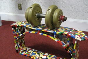 LEGO bridge load
