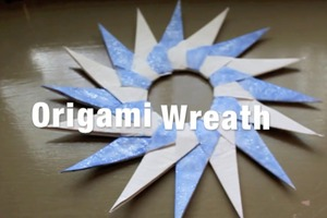 Origami Wreath How-To