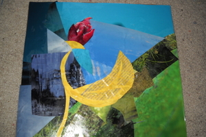 Pizza Box As Collage Canvas