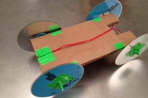Rubber Band-Powered Car