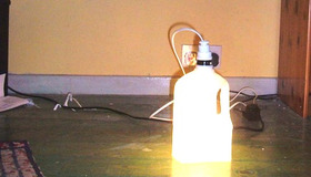 Make a Milk Jug Lamp