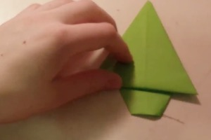 How to fold an origami Pine Tree