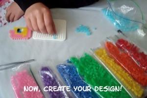 How to make a Rainbow Dash perler bead & yarn bookmark
