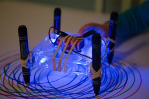 Squiggle Bot With LEDs