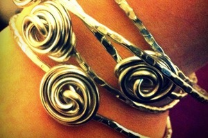 How to Make Stackable Rose Bangle Bracelets