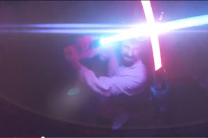 First-Person POV Lightsaber Battle