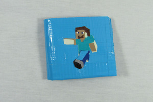 Epic Minecraft duct tape wallet