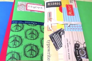 Recycled File Folder Book Tutorial