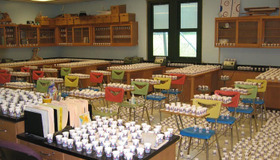 Classroom Full of Cups With Water