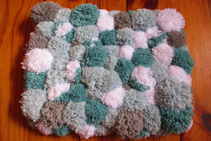 Pompoms carpet