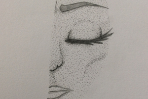 Pointillism Face