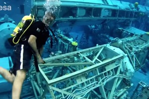 Astronauts Scuba Dive in the ISS Training Pool