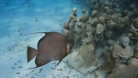 The Underwater Museum in Cancun