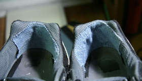 Repair the Heels of Athletic Shoes