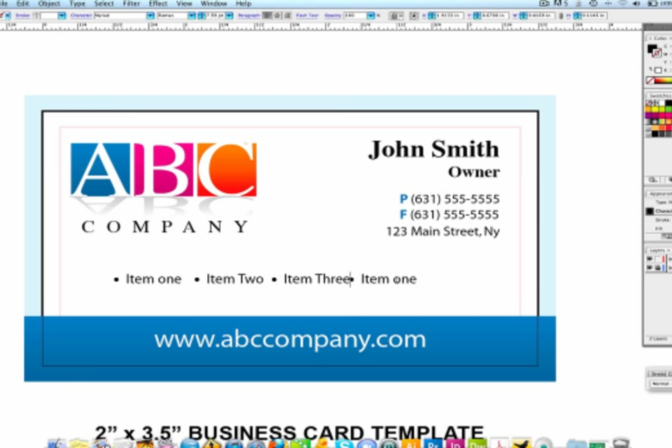 X Business Card Template Word Insssrenterprisesco - 2 x 35 business card template