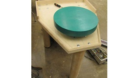How to build a potters wheel with a treadmill motor!