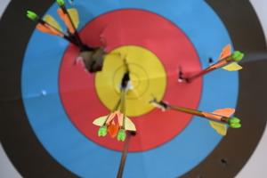 Archery Practice (multiple photographs)