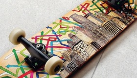 Sharpie Drawing on Skateboard