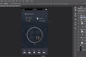 Flat Mobile App Design in Photoshop CC